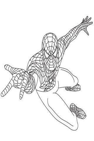 如何画蜘蛛侠