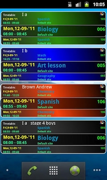 学校课程表