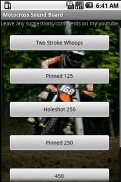 Motocross Sound Board