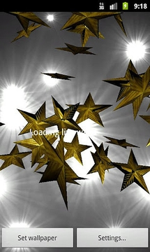 Gold Stars 3D Live Wallpaper