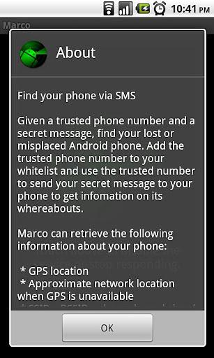 Marco Phone Finder