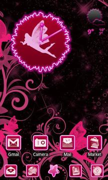 Fairy Pink Clock