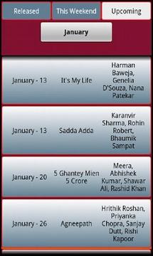Bollywood Calendar 2012