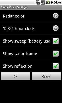 Radar Clock Widget Light