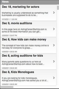 Acting Careers