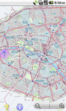 Offline GPS Paris bike paths