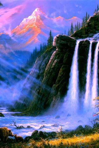 河流,海滨水景,天空,河流,小溪,日落,风景摄影,自然风光,壁纸,高清