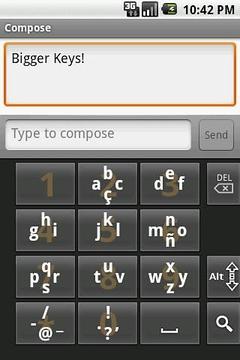 滑动式键盘