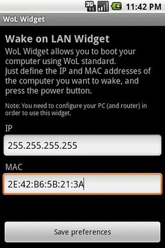 WoL Widget