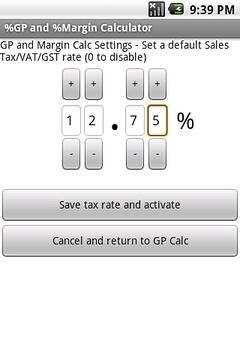 免费%的毛利率计算器