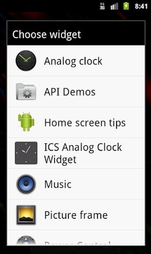 ICS Analog Clock Widget