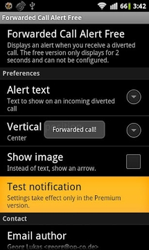 Forwarded Call Alert Free