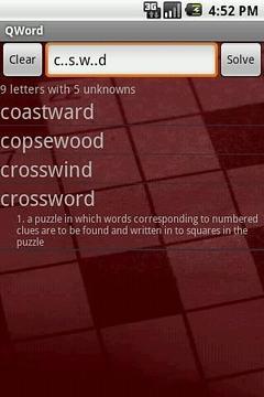 QWord - crossword solver