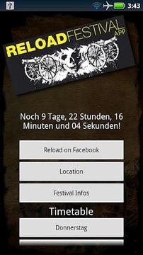 Reload Festival App