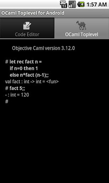 OCaml Toplevel for Android