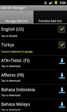 Turkish/Türkçe Adaptxt Add-On
