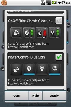 OnOff 皮肤:电源控制