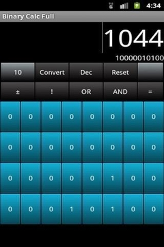 二进制计算器简易版