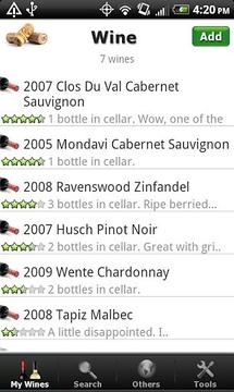 葡萄酒 - 名单,评定与酒窖
