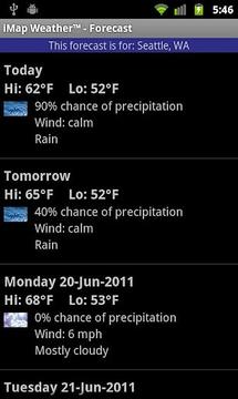 我的天气预报