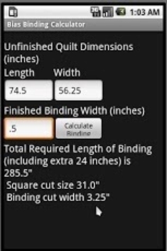 Bias Binding Calculator