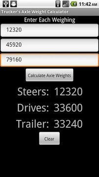 Trucker's Axle Weight Calc