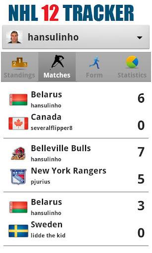 NHL 12 Tracker