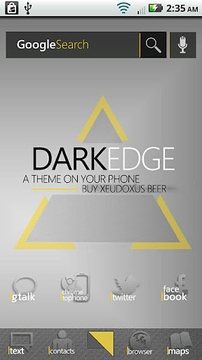 DarkEdge Gold (ADW Theme)