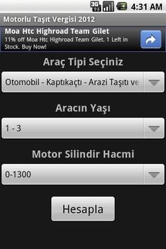 Motorlu Taşıt Vergisi 2012