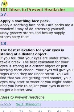 101种防止头痛