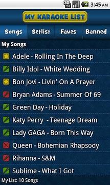 My Karaoke List