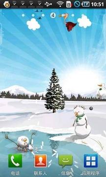 打小鸟救雪人