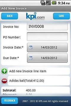 kpi.com sales invoice