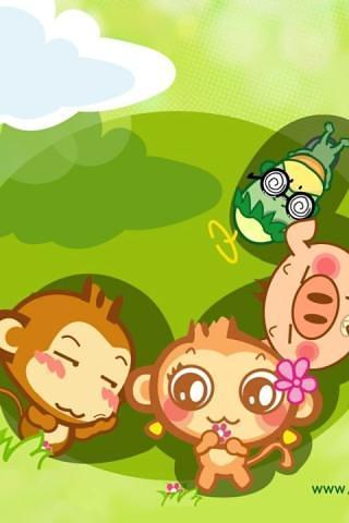 主题 可爱的猴子hd动态壁纸