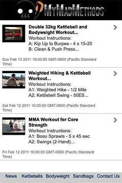 My Mad Methods Workout App