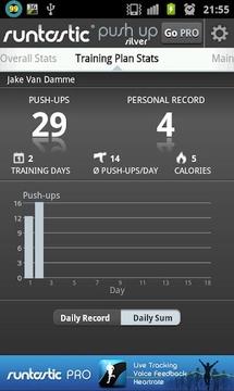 runtastic Push-Up Silver