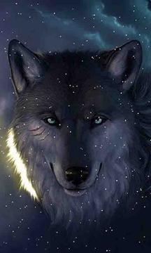 下雪狼即时壁纸