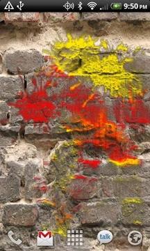 重力感应炫彩油漆动态壁纸
