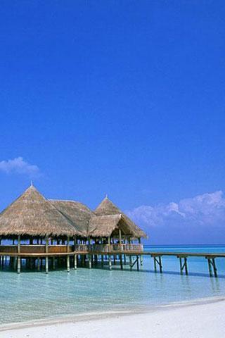 79mb 马尔代夫海滩壁纸  马尔代夫有超过80个的海滩.