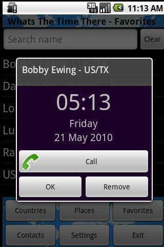拨号:世界时钟和时区