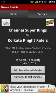 板球联赛资讯(ricket IPL 2011)