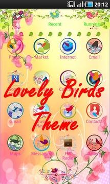 Lovely birds theme Clock
