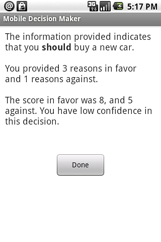 Mobile Decision Maker