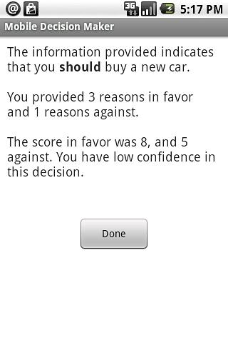 Mobile Decision Maker