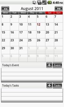 日曆之一 - 簡單的校準