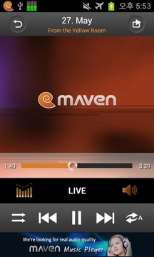 3D Music Player MAVEN Sunset