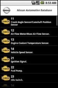 Nissan Automotive Database