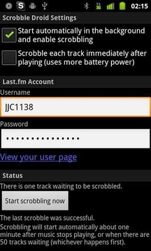 Scrobble Droid