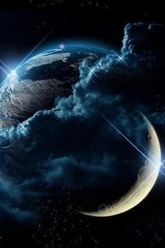 3D酷月球与地球图片