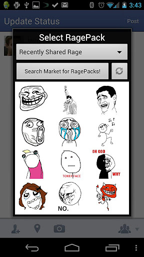 Rage Face Live Wallpaper+Share
